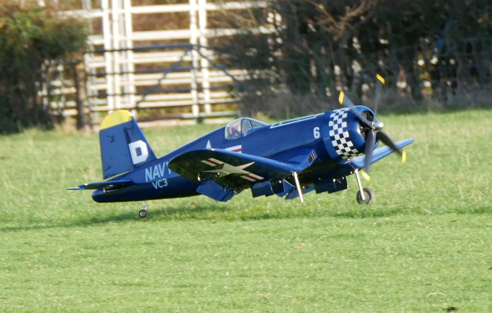 one wheeled landing!